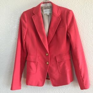 Banana Republic Size 2 Chase Blazer Coral Lined
